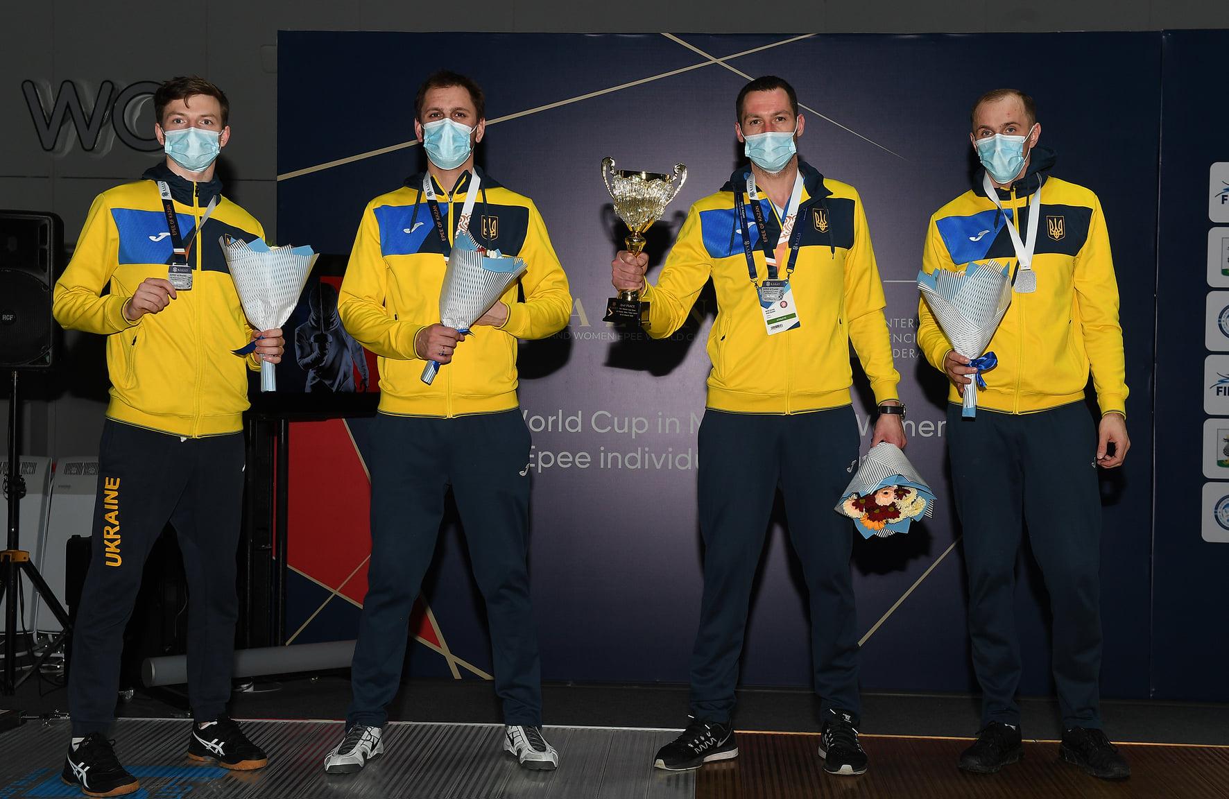КС 2021: Шпажисти здобувають срібло Кубка світу і командну путівку на Олімпіаду