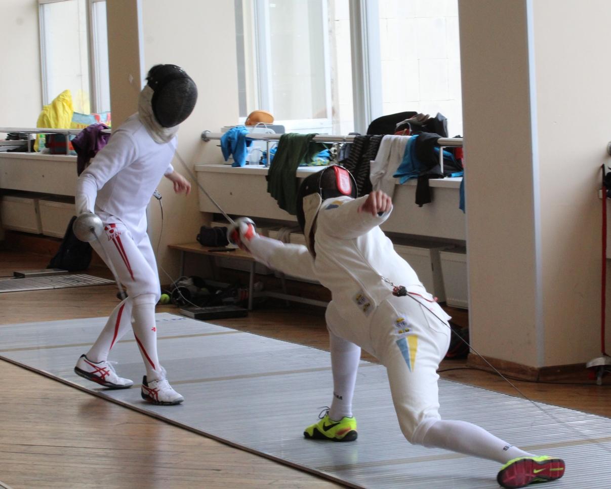 Тренування збірної України з фехтування на шпагах за участю команди Японії в Конча-Заспі